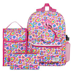 6PC HEARTS BACKPACK SET