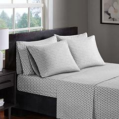 Madison Park 200tc Diamond Sheet Set with Extra Pillowcases