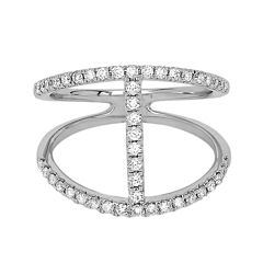 LIMITED QUANTITIES 1/2 CT. T.W. Diamond 14K White Gold H-Ring