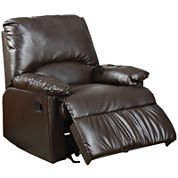 Beagle Faux-Leather Recliner