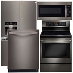 LG 4-pc. Electric Kitchen Package- Black Stainless