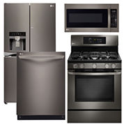 LG ENERGY STAR® French-Door 4-pc. Kitchen Package - Black Stainless Steel