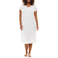 Earth Angels® Short-Sleeve Ballet Nightgown - Plus