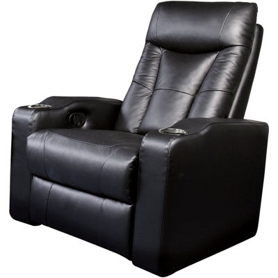 dallas home theater element fauxleather recliner