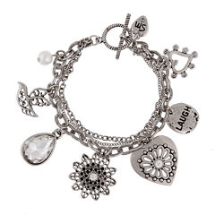 Messages from the Heart® by Sandra Magsamen® Silver-Tone Bracelet