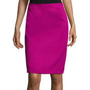 Chelsea Rose Textured Pencil Skirt