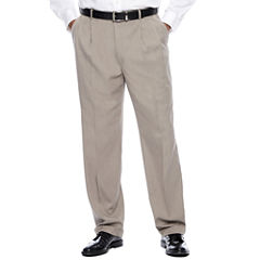Savane® Micro Mélange Pleated Dress Pants - Big & Tall