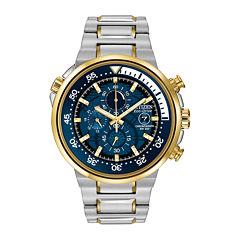 Citizen® Eco-Drive® Endeavor Mens Two-Tone Chronograph Watch CA0444-50L