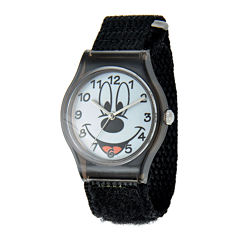 Disney Mickey Mouse® Kids Black Nylon Fast Strap Watch