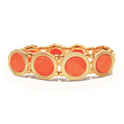 Studio By Carol Round Orange Stretch Bracelet