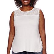 Liz Claiborne® Embellished Tank Top - Plus