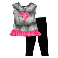 Young Land 2-pc. Legging Set-Toddler Girls