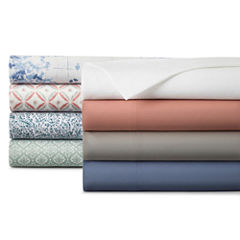 JCPenney Home™ 300tc 100% Cotton Ultra Soft Solid Sheet Set