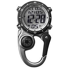 Dakota Men's Silver Digital Mini-Clip Pocket Watch