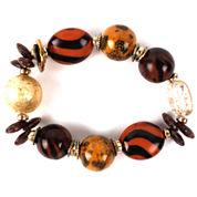 Aris by Treska Brown and Gold-Tone Chunky Bracelet