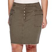 a.n.a® Military Mini Skirt - Plus