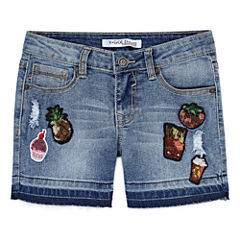 Vgold Midi Shorts-Big Kid Girls