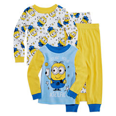 4 PC PAJAMA MINION TODDLER