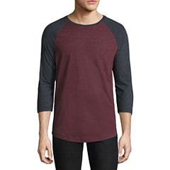 City Streets 3/4 Sleeve Crew Neck T-Shirt