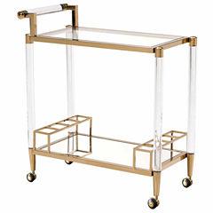 Zuo Modern Existential Glass-Top Serving Cart