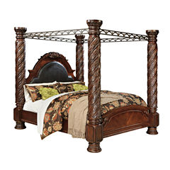 Signature Design by Ashley® North Shore California King Canopy Bed