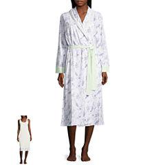 Adonna Jersey Long Sleeve Nightgown + Robe Set