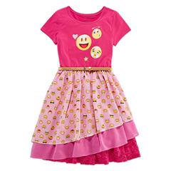 Shopkins Scoop Neck Short Sleeve Fitted Sleeve Blouse - Big Kid Girls