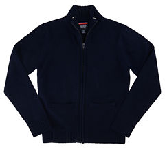 French Toast Zip Front Sweater Boys Big Kid