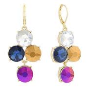 Monet® Multicolor Stone Gold-Tone Drop Earrings