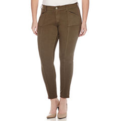 Arizona Seamed Twill Jeggings - Juniors Plus