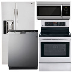 LG 4-pc. Electric Kitchen Package- Stainless Steel