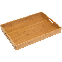 Solid Bamboo TV Tray With Handles