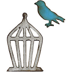 Sizzix® Movers & Shapers Magnetic Dies by Tim Holtz® 2-pk. Mini Bird & Cage