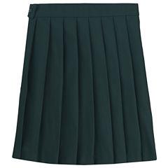 French Toast Pleated Skirt Woven Pleated Skirt - Preschool Girls