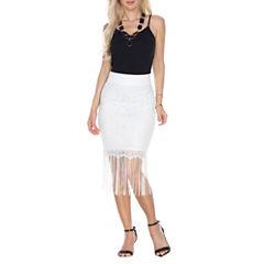 White Mark Vega A-Line Skirt
