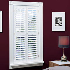 JCPenney Home™ Faux-Wood Plantation Shutters with Mid-Rail - 2 Panels