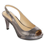 CL by Laundry Cary Peep-Toe Slingback Pumps