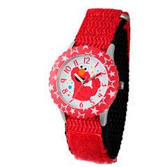 Sesame Street Red Elmo Hearts Time Teacher Strap Watch W003170