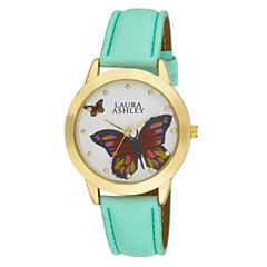 Laura Ashley Ladies Gold Butterfly Dial Watch La31014Yg