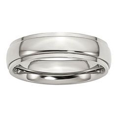 Mens 6mm Stainless Steel Wedding Band