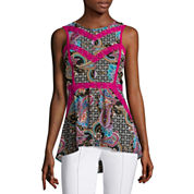 nicole by Nicole Miller® Sleeveless Trimmed Top