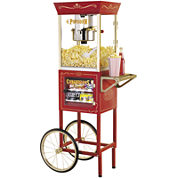 Nostalgia CCP610 59-Inch Commercial 8-Ounce KettlePopcorn & Concession Cart