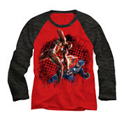 Marvel® Long-Sleeve Civil War Raglan Tee - Boys 8-20