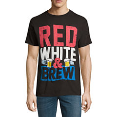 Red White Brew SS Tee