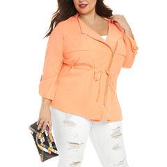 Fashion To Figure Shayla Light Spring Shirt Jacket-Plus