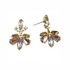Vieste Rosa Pink Brass Drop Earrings