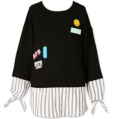 Speechless Long Sleeve Layered Top - Big Kid Girls