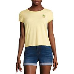 Pineapple Graphic T-Shirt- Juniors