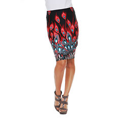 White Mark Stretchy Material Pencil Skirt
