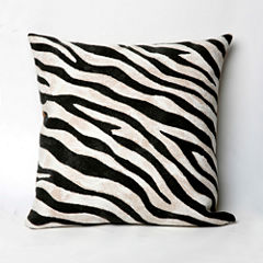 Liora Manne Visions I Zebra Square Outdoor Pillow